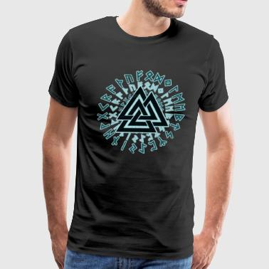 Norse Mythology Valknut Viking Warrior Symbol Triangle - Men's Premium T-Shirt