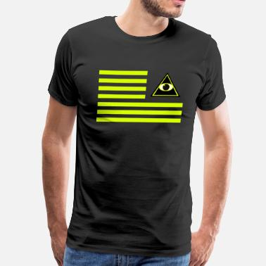 Illuminated Enlightenment Flag of providence 1 - Men's Premium T-Shirt