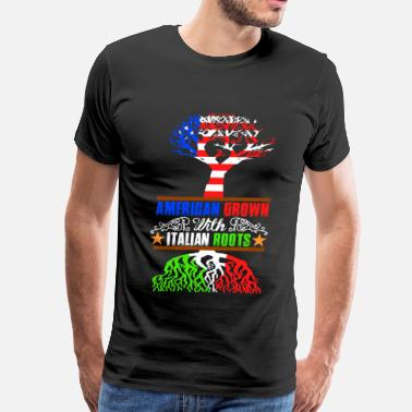 American With Italy Roots American Grown Roots - Men's Premium T-Shirt