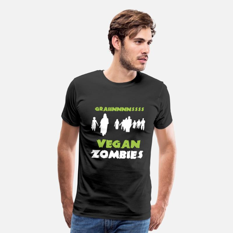 Vegan T-Shirts - Vegan Zombies - Grainnnnssss - Men's Premium T-Shirt black