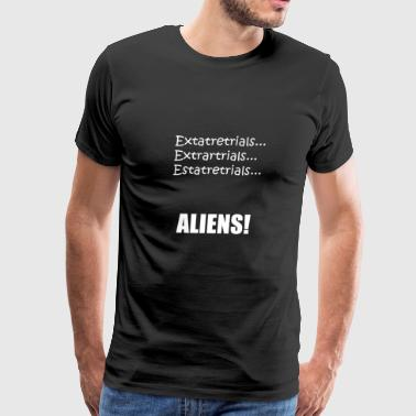 Ancient Aliens Funny Ancient Alien Spelling - Men's Premium T-Shirt