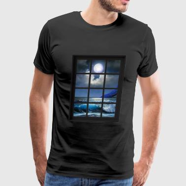 Sea King Ocean Breeze Mind At Ease Ocean Beach Window Print 1 - Men's Premium T-Shirt