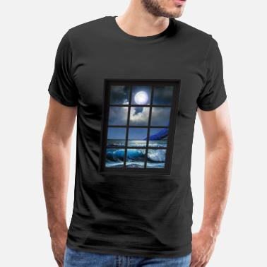 Fishy Ocean Breeze Mind At Ease Ocean Beach Window Print 1 - Men's Premium T-Shirt