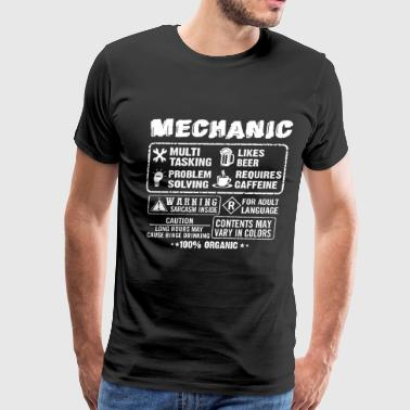 Lesbian Mechanic funny mechanic, mechanics, mechanical engineering - Men's Premium T-Shirt