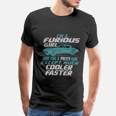 Ae Performance Paul Walker Car Fast And Furious Car - I'm a furious girl, pretty and cooler faster - Men's Premium T-Shirt