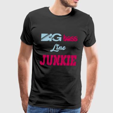 big bass line junkie - Men's Premium T-Shirt