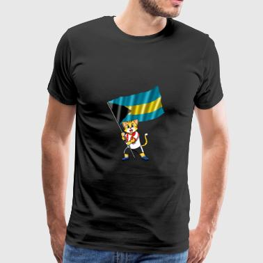 Bahamas fan cat - Men's Premium T-Shirt