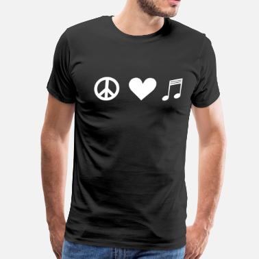 Peace Love Music Peace Heart Music - Men's Premium T-Shirt