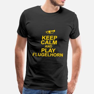 Flugel Keep Calm and play Flugelhorn - Men's Premium T-Shirt