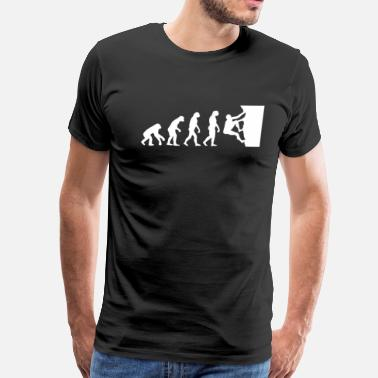Rock Climbing Evolution Rock Climbing Evolution T-Shirt - Men's Premium T-Shirt