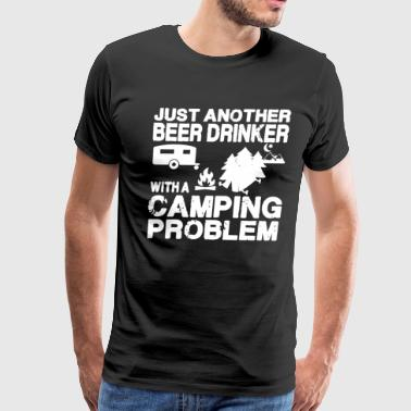 Beer Drinker With Camping Shirt - Men's Premium T-Shirt
