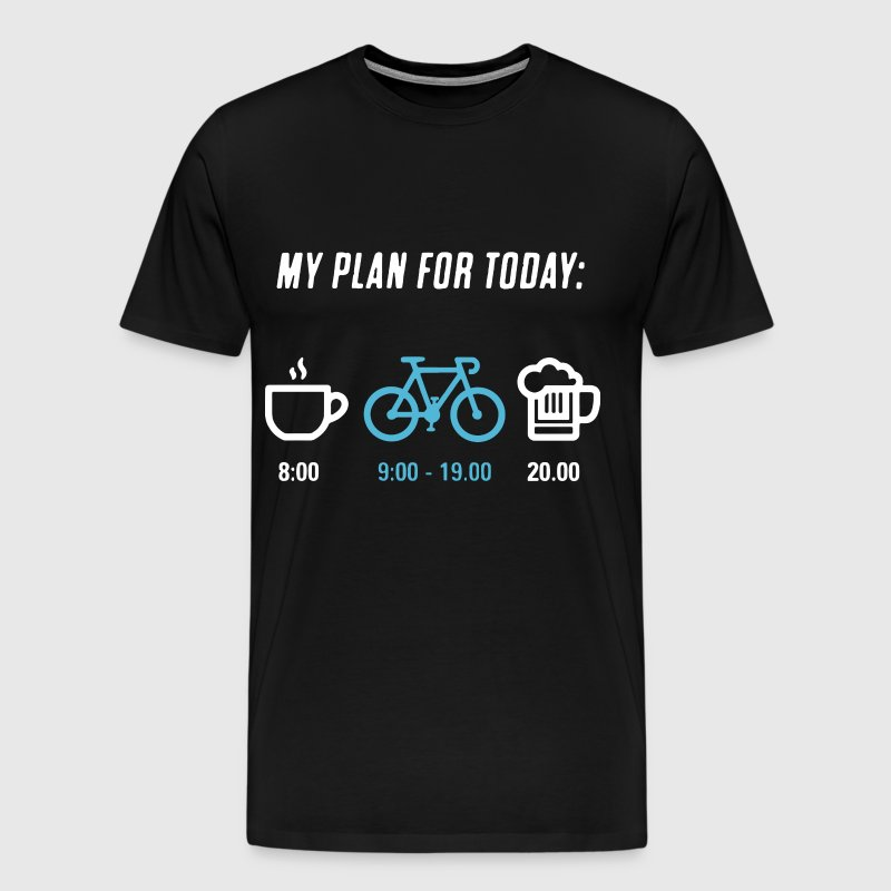 My plan for today cycling - Men's Premium T-Shirt