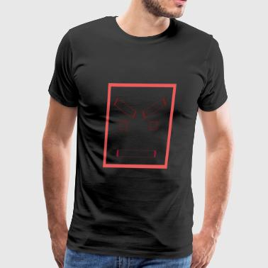 Angry square face - Men's Premium T-Shirt