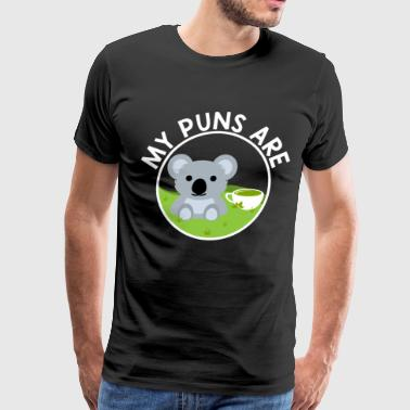 My Puns Are Koala Tea - funny Gift - Men's Premium T-Shirt