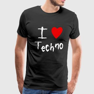 I love Techno - Men's Premium T-Shirt