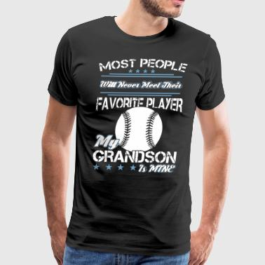 most favorite player my grandson is mine softball - Men's Premium T-Shirt