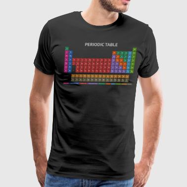 Periodic Table T-shirt (Dark) - Men's Premium T-Shirt