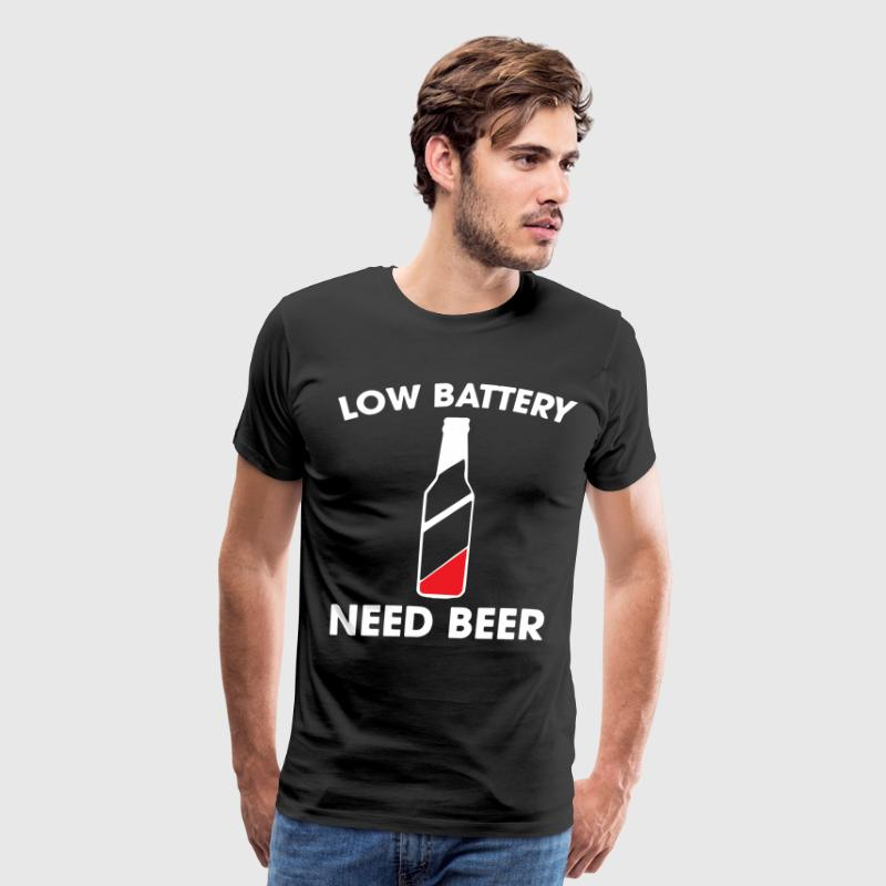 LOW BATTERY NEED BEER T-SHIRTS - Men's Premium T-Shirt
