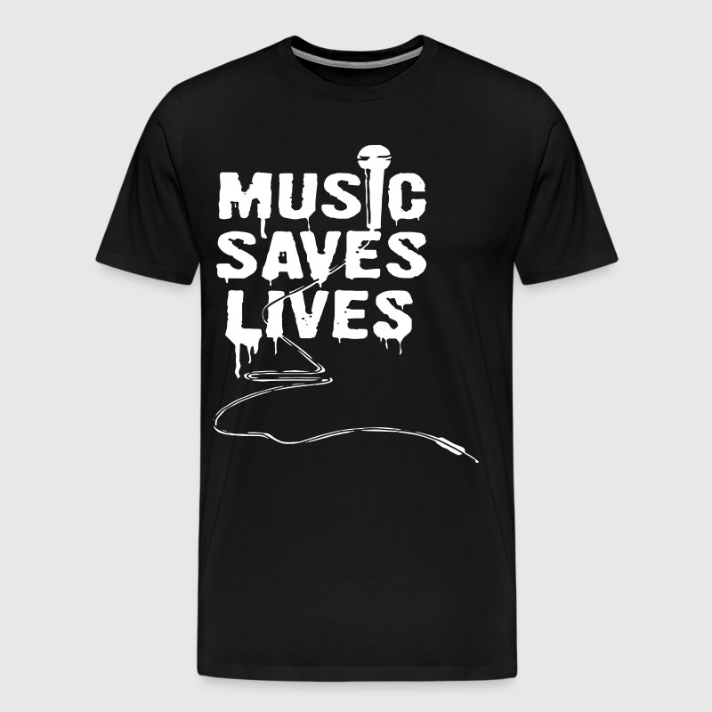 music saves lives t-shirts - Men's Premium T-Shirt