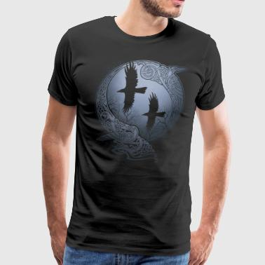 Raven And Moon ODIN'S RAVENS - Men's Premium T-Shirt