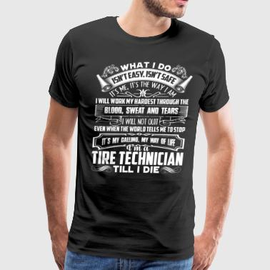 Tire Technician Job Title Shirt - Men's Premium T-Shirt