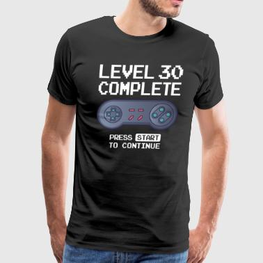Funny Nerd Level 30 Complete - Men's Premium T-Shirt