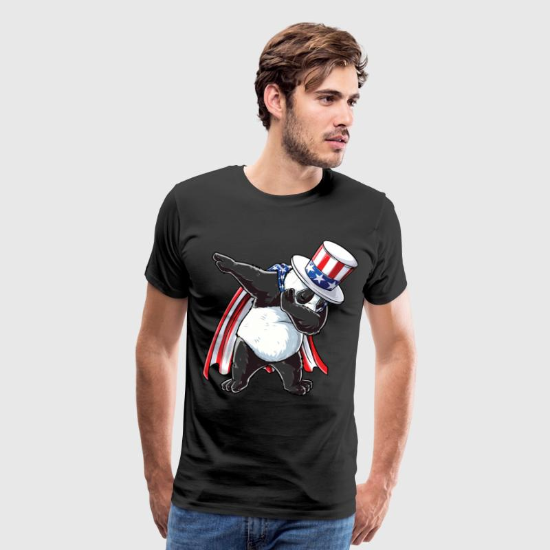 Dabbing Uncle Sam Panda T shirt 4th Of July Kids Boys Men USA - Men's Premium T-Shirt