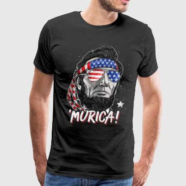 Merica Abe Lincoln T shirt 4th of July Men Boys Kids Murica - Men's Premium T-Shirt