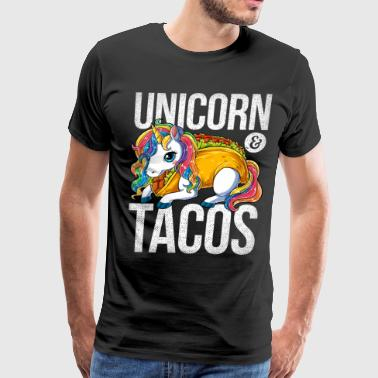 Unicorn and Tacos T Shirt Cinco de Mayo Mexican Food Kids Girls Boys Rainbow Squad Cute Gifts Party - Men's Premium T-Shirt