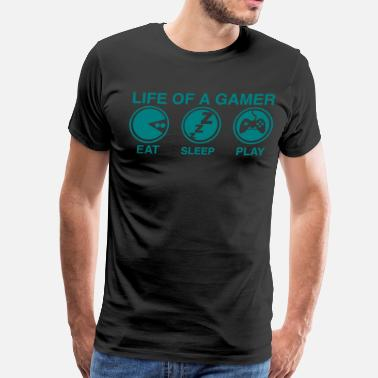Typical Life of a Gamer - Men's Premium T-Shirt