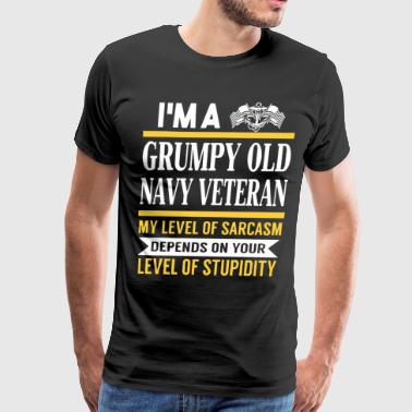 I'm a grumpy old navy veteran - Men's Premium T-Shirt