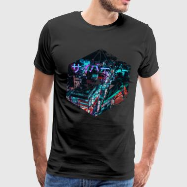 Cyberpunk Japan - Geometric Abstract Steampunk - Men's Premium T-Shirt