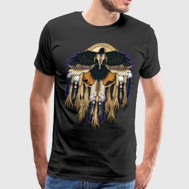 Crow or Raven Mandala - Men's Premium T-Shirt