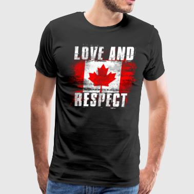 Canadian Art Love and Respect Canada Flag Canadian Pride T Shirt - Men's Premium T-Shirt