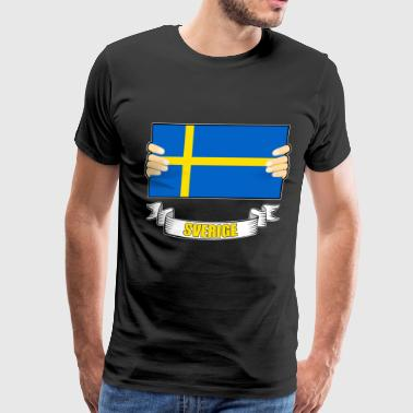 flag Sverige - Men's Premium T-Shirt