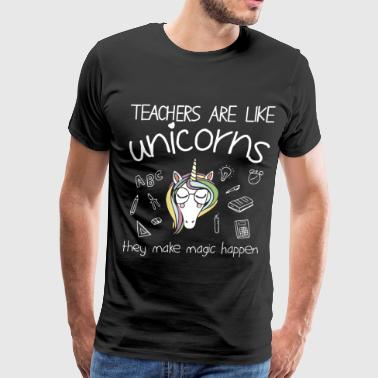 Unicorn Teacher teachers are like unicorn t shirts - Men's Premium T-Shirt