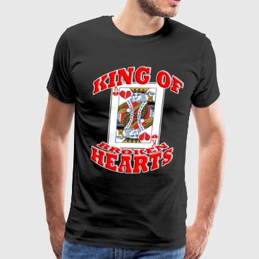 king f broken hearts - Men's Premium T-Shirt