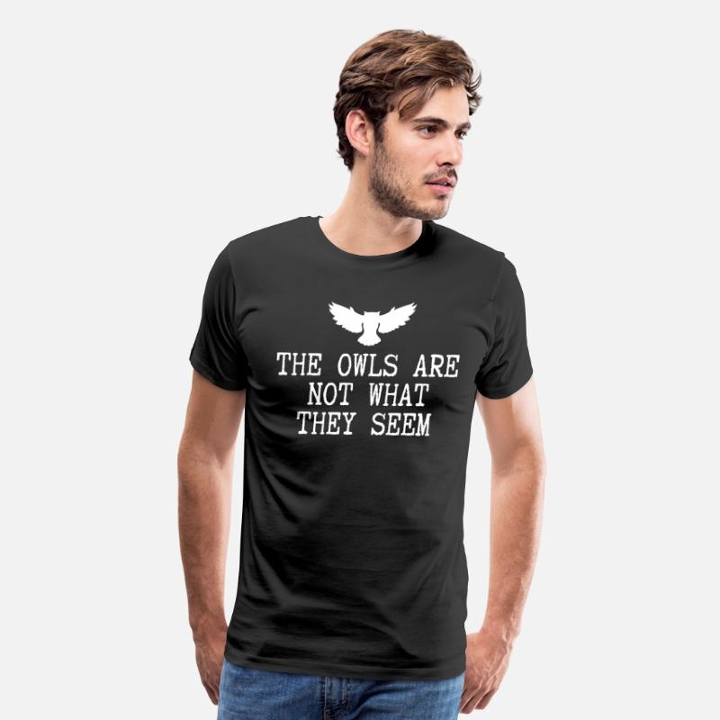 Classic T-Shirts - The Owls Are Not What They Seem - Men's Premium T-Shirt black