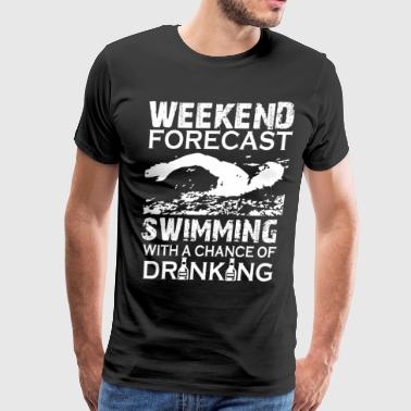 WEEKEND FORECAST SWIMMING - Men's Premium T-Shirt