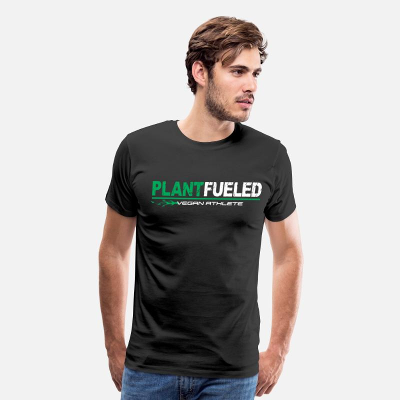 Vegan T-Shirts - Vegan Athlete Plant Based - Men's Premium T-Shirt black