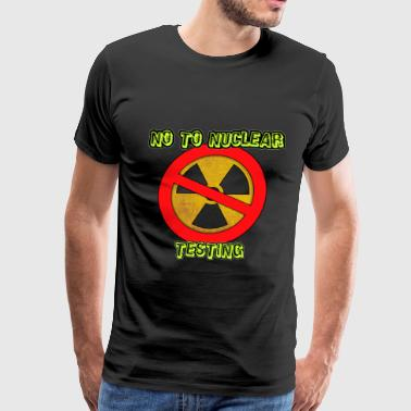 Navy Nuclear No to Nuclear Testing - Men's Premium T-Shirt