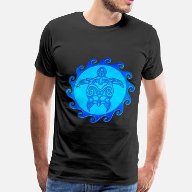 Blue Turtle Blue Tribal Turtle - Men's Premium T-Shirt