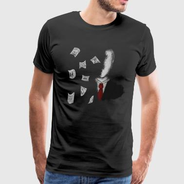 Slender Man With Pages - Men's Premium T-Shirt