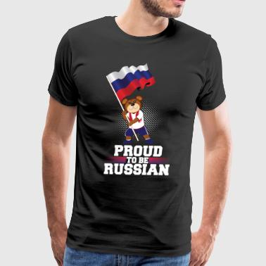 Proud to be Russian Bear Gift - Men's Premium T-Shirt