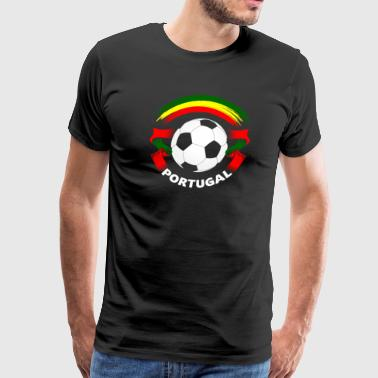 Portugal Football Soccer Fan Flag - Men's Premium T-Shirt