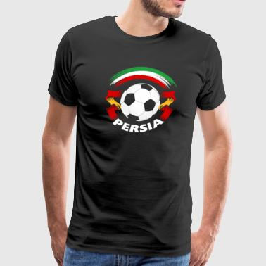 Persia Football Soccer Fan Flag - Men's Premium T-Shirt