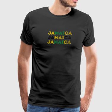 Jamaica Text Flag Jamaican Pride Design - Men's Premium T-Shirt