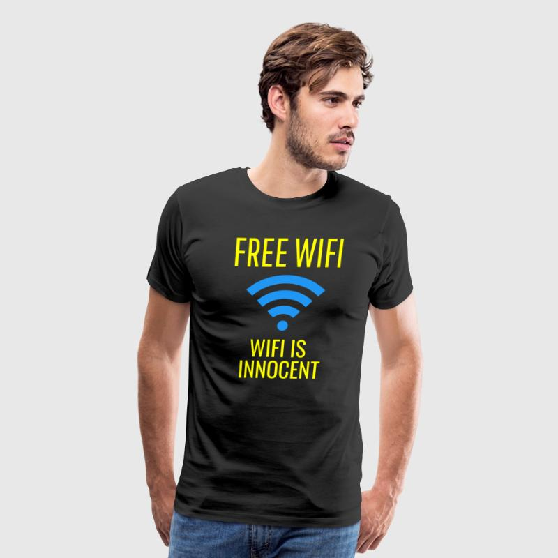 Free WIFI, WIFI Is Innocent! - Men's Premium T-Shirt