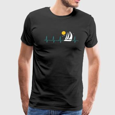 Sailing Heartbeat Shirt - Men's Premium T-Shirt