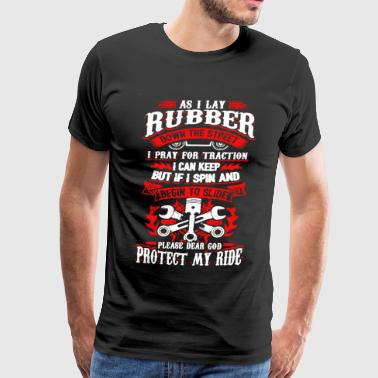 As I Lay Rubber Mechanic - Men's Premium T-Shirt